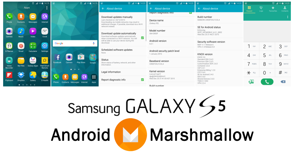 Android-6.0.1-Marshmallow Galaxy-S5